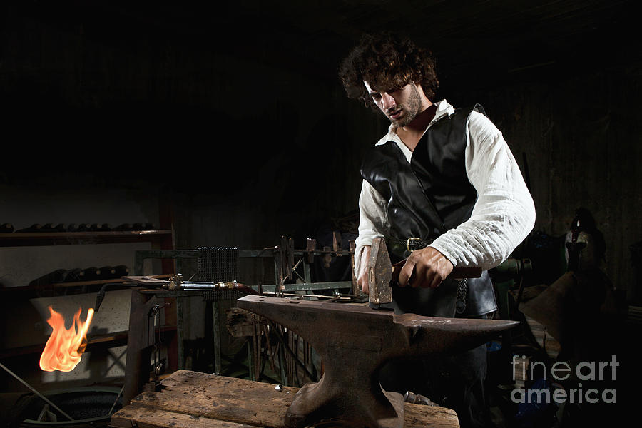 Blacksmith  Photograph  - Blacksmith  Fine Art Print