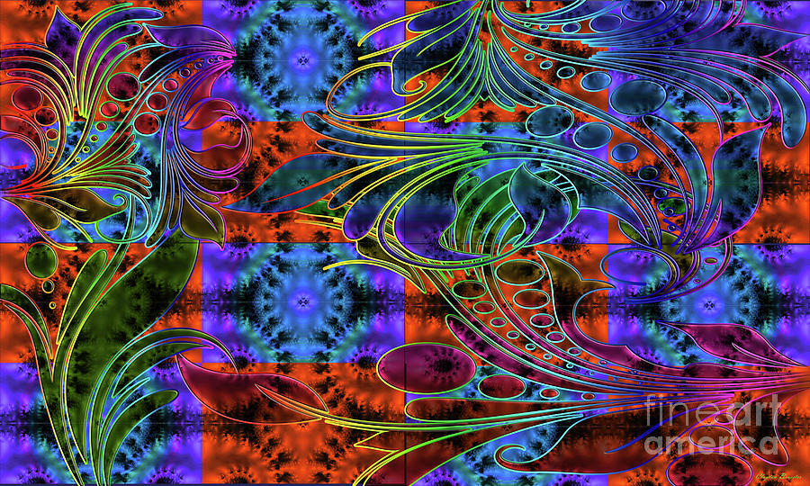Bleeding Rainbow Digital Art  - Bleeding Rainbow Fine Art Print