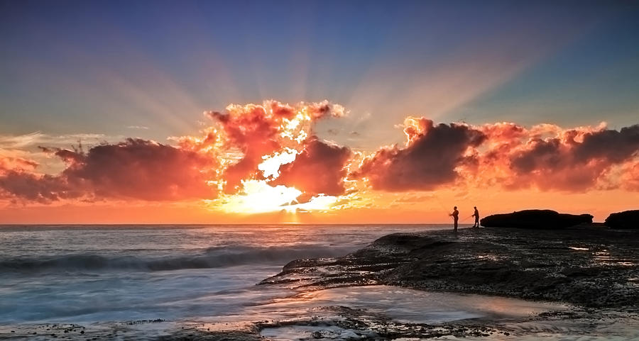 Sun Rays Photograph - Blessed Fishermen by Mark Lucey
