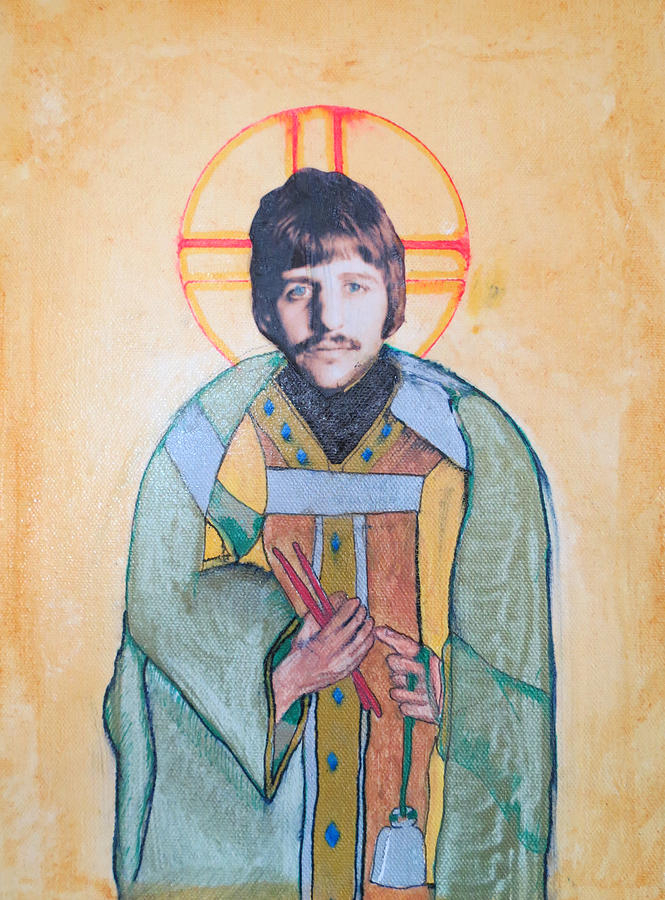Beatles Painting - Blessed Ringo by Philip Atkinson