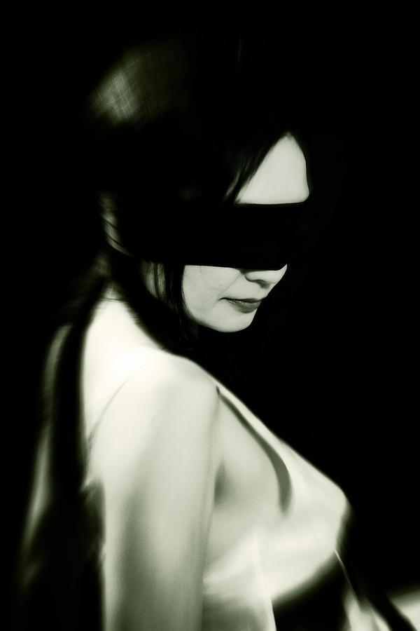 Woman Photograph - Blindfold by Joana Kruse