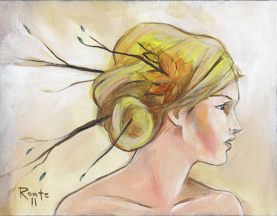 Blonde Autumn Right Painting