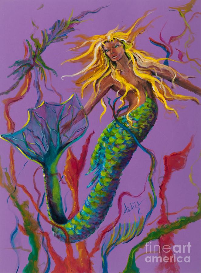 Blonde Mermaid Painting