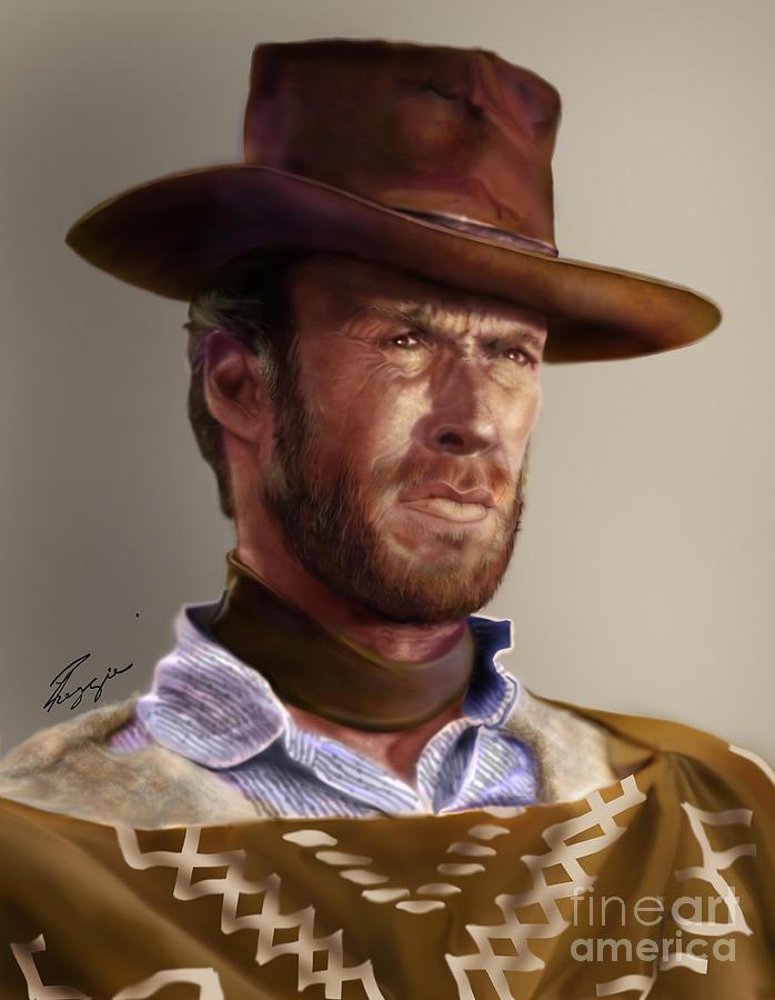 Blondie - Clint Eastwood Painting