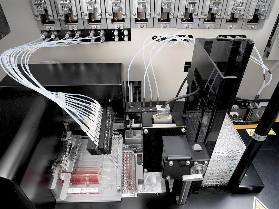 Machine Photograph - Blood Analysis Machine by Tek Image