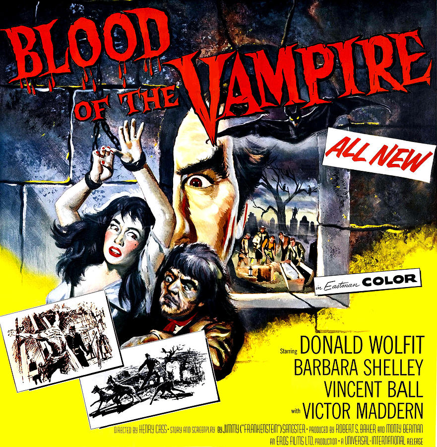 Blood Of The Vampire, From Left Barbara Photograph