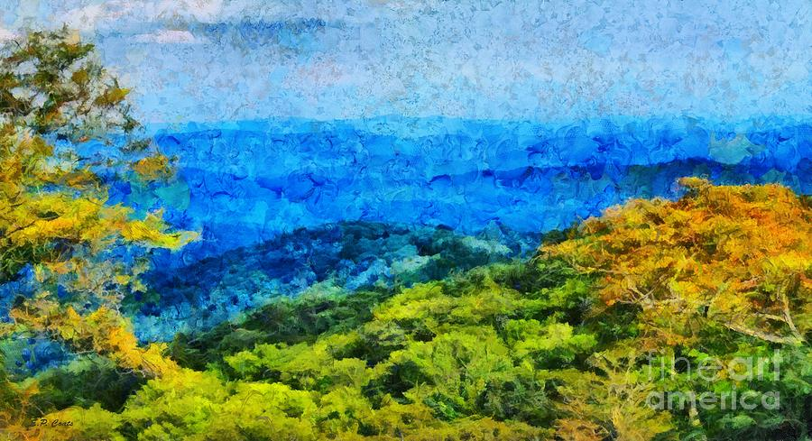 Blowing Rock Nc View Painting  - Blowing Rock Nc View Fine Art Print