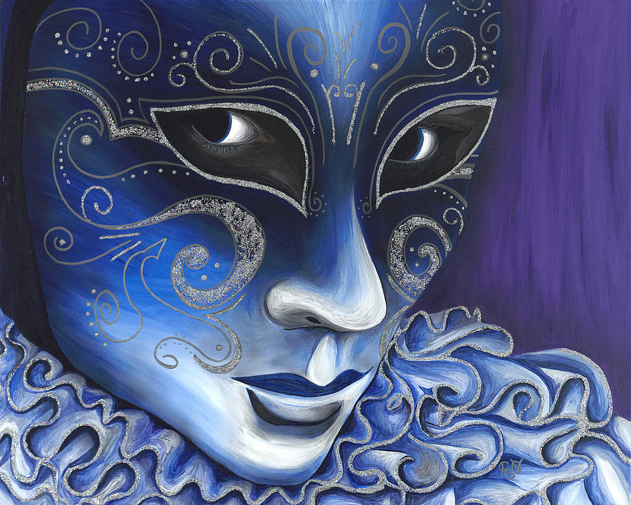 Blue And Sliver Carnival Flair  Painting
