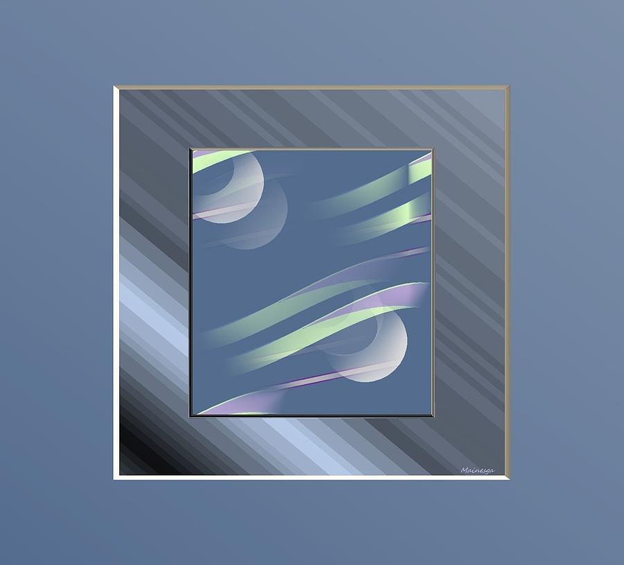 Blue  And Stripes Digital Art