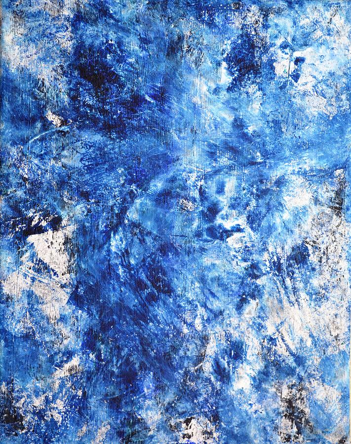 Ocean - Blue Abstract Art Paintingi Painting by CarolLynn Tice