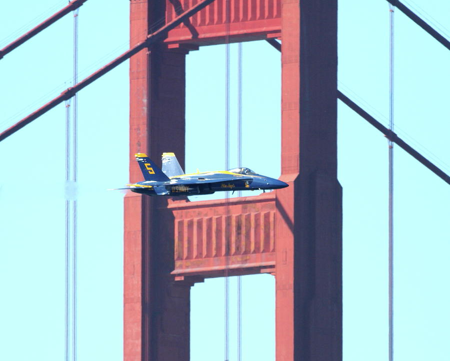 Blue Angels Crossing The Golden Gate Bridge 10 Photograph