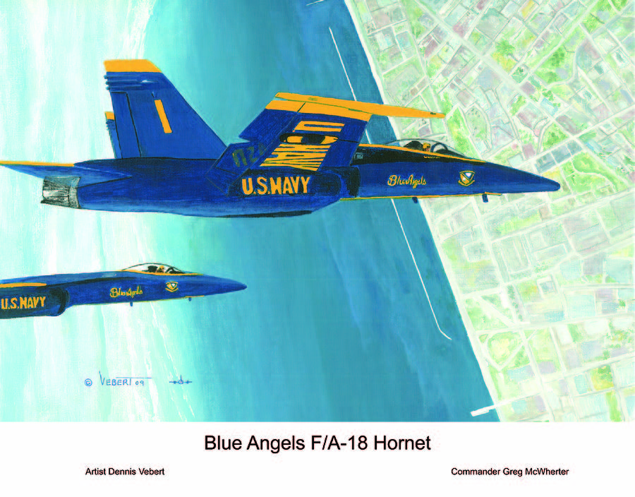 Blue Angels Painting