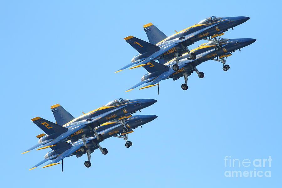 Blue Angels F-18 Super Hornet . 7d7978 Photograph