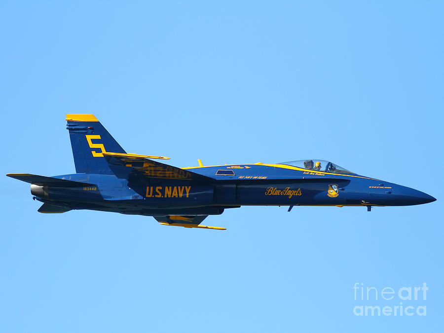 Blue Angels F-18 Super Hornet . 7d8049 Photograph  - Blue Angels F-18 Super Hornet . 7d8049 Fine Art Print