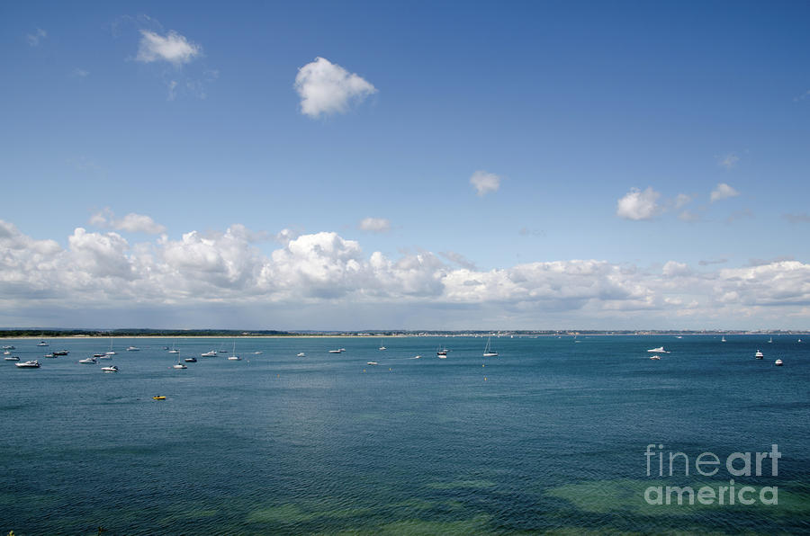 Blue Bay Seascape From The Isle Of Purbeck Dorset England Uk Photograph  - Blue Bay Seascape From The Isle Of Purbeck Dorset England Uk Fine Art Print