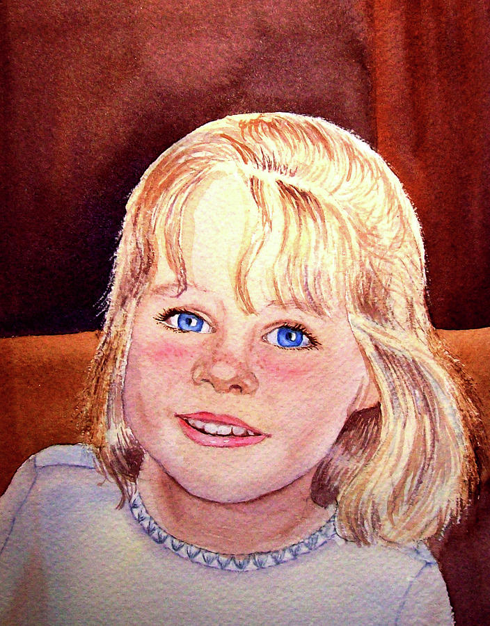 Blue Blue Eyes Painting