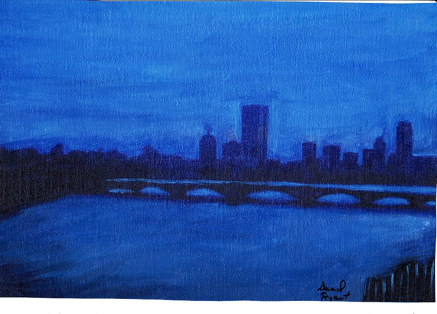 Blue Boston Painting  - Blue Boston Fine Art Print