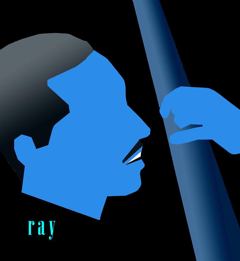 Jazz Digital Art - Blue Brown by Victor Bailey