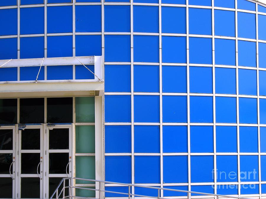 Blue Building Photograph