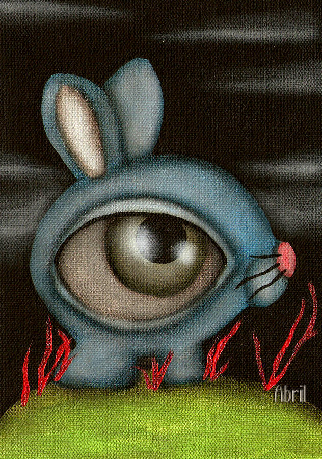 Blue Bunny Painting