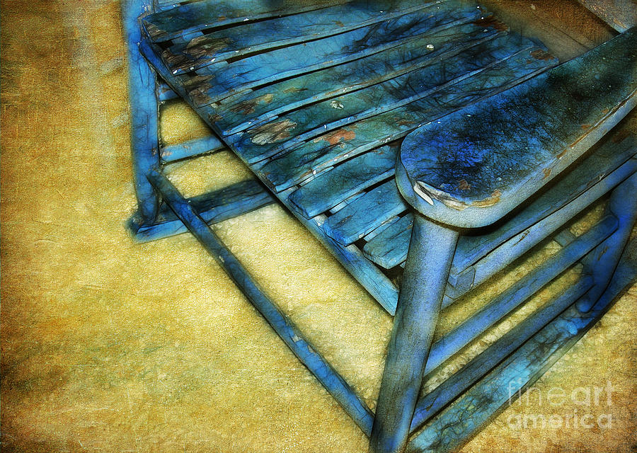 Blue Chair Photograph  - Blue Chair Fine Art Print