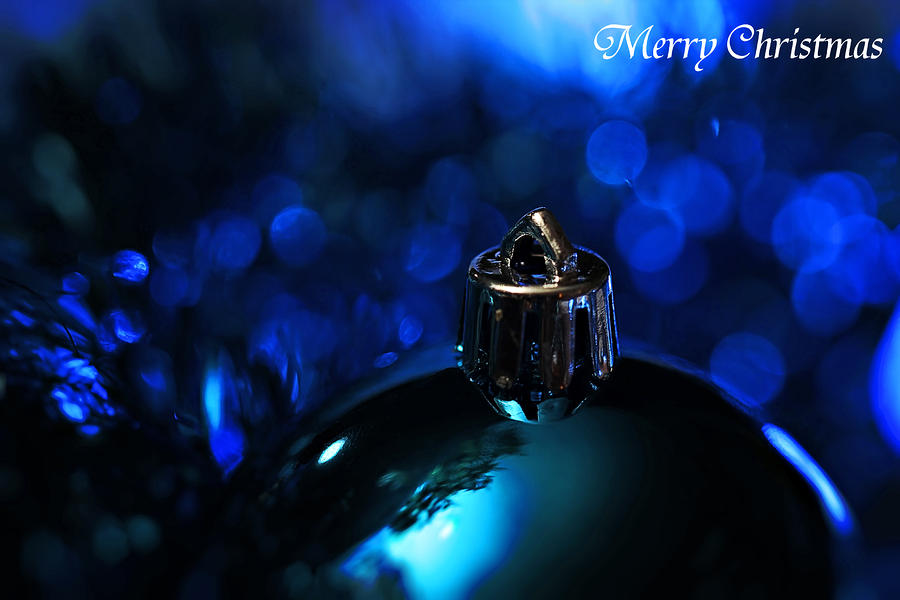 Blue Christmas Photograph  - Blue Christmas Fine Art Print