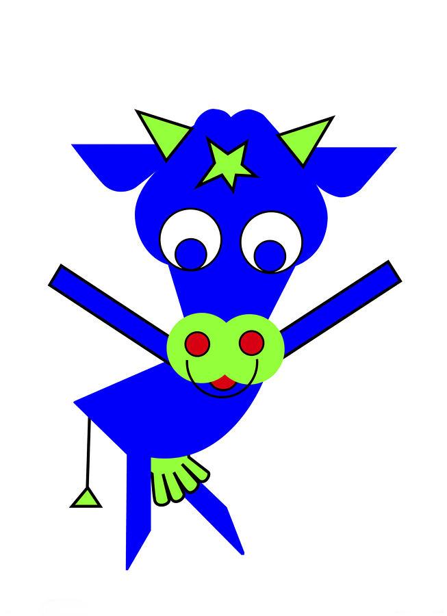 Blue Cow Margaret Digital Art