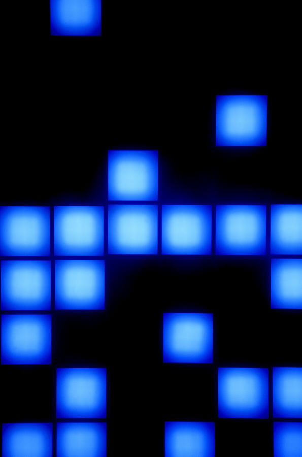 Blue Cubes Photograph  - Blue Cubes Fine Art Print