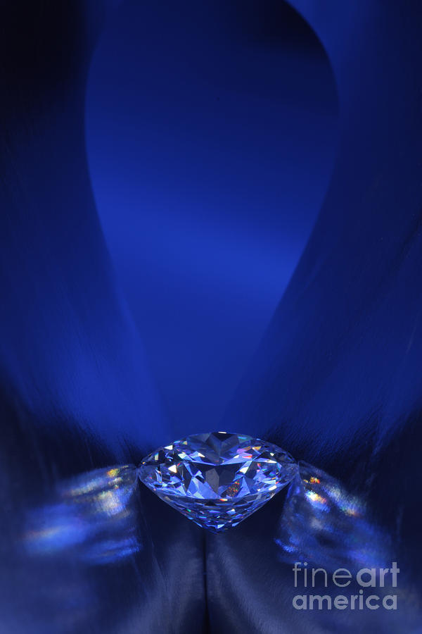 Blue Diamond In Blue Light Jewelry