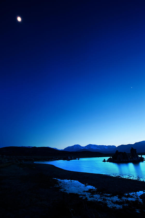 Blue Dusk Mono Lake Photograph