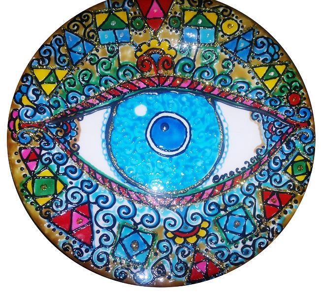 Blue Eye Glass Art