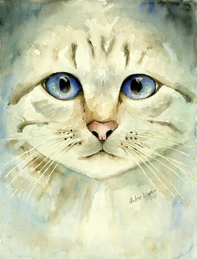 Blue-eyed Cat Painting