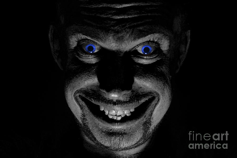 Blue Eyed Demon Photograph  - Blue Eyed Demon Fine Art Print