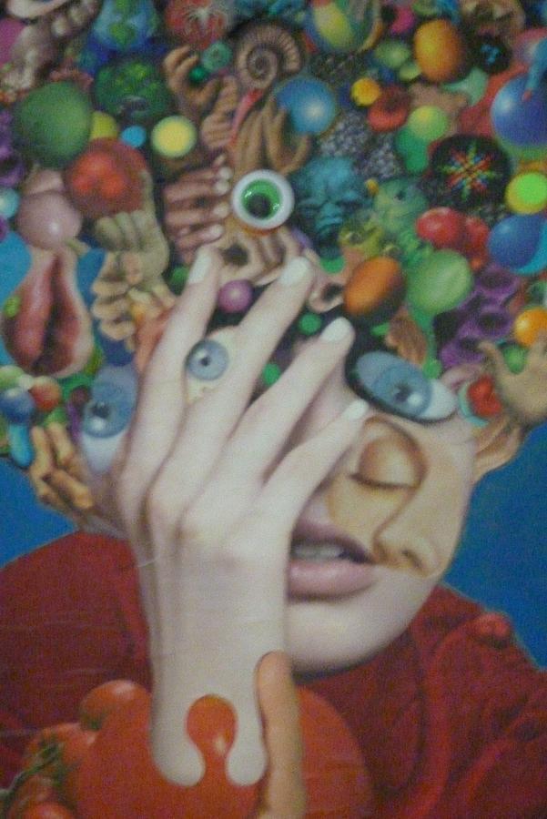Blue-eyed Hand Mixed Media