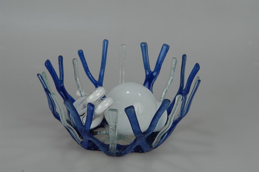Blue Fantasy Glass Art
