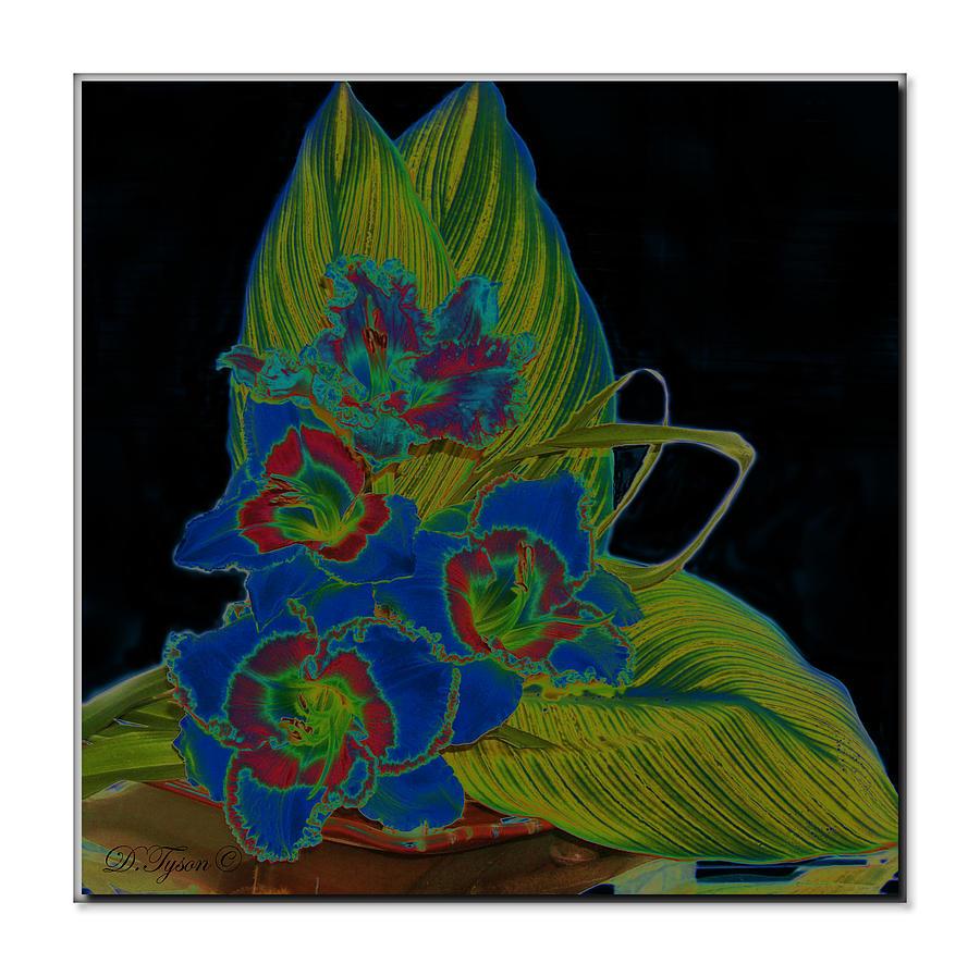 Blue Photograph - Blue Floral  by Diana  Tyson