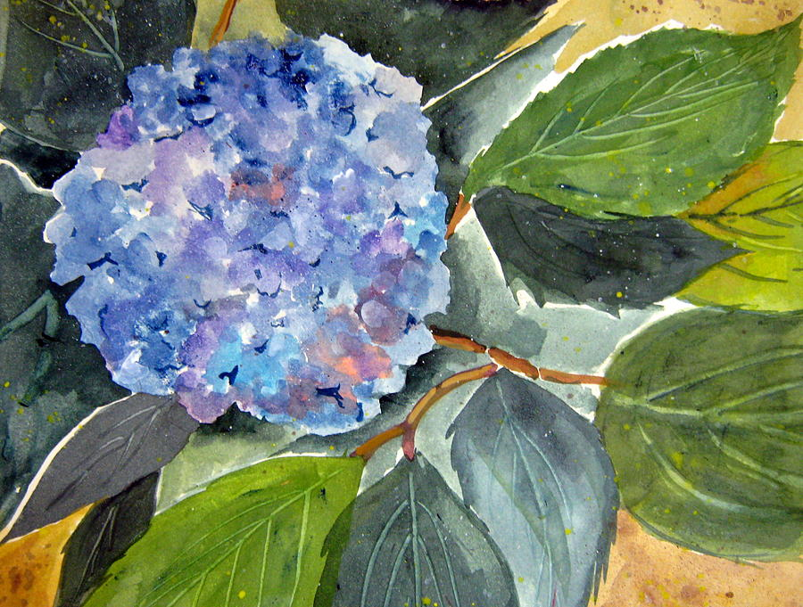 Blue Flower Painting  - Blue Flower Fine Art Print
