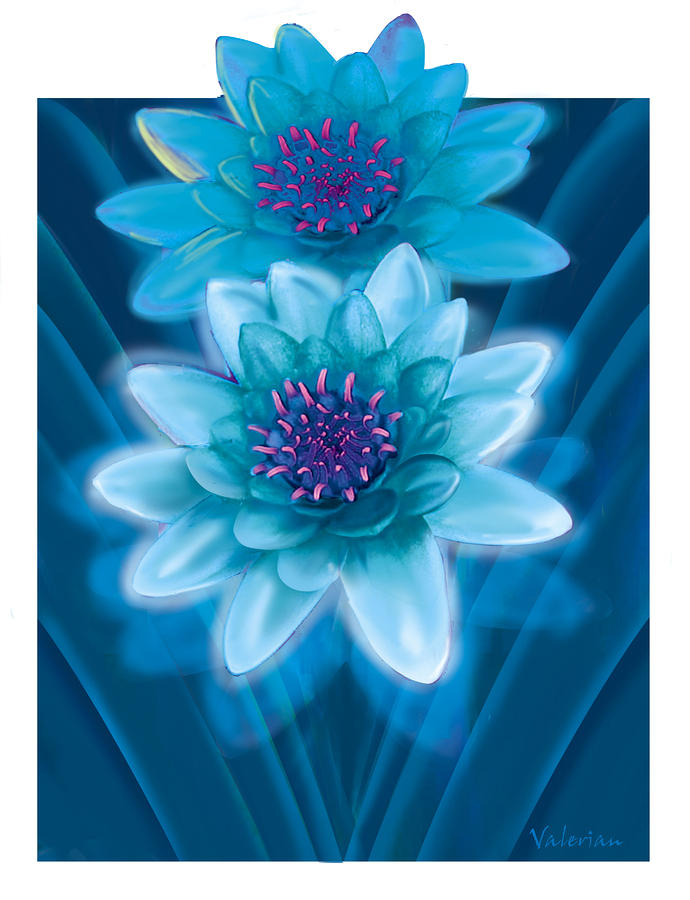 Blue Flowers Pastel