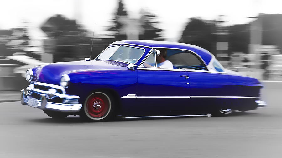 Blue Ford Customline Photograph  - Blue Ford Customline Fine Art Print