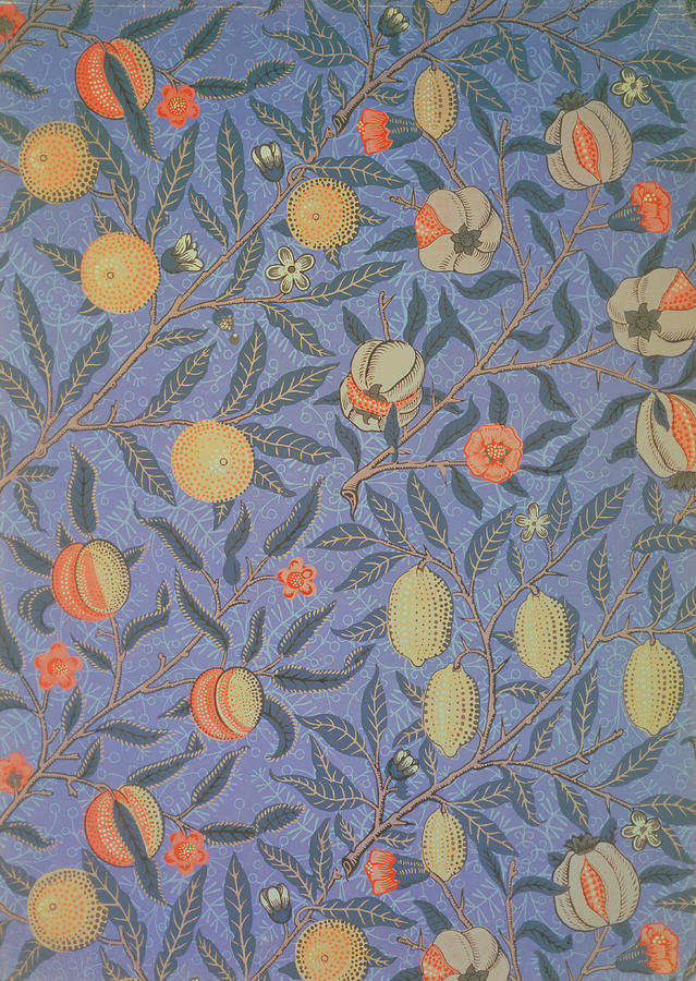 Blue Fruit Tapestry - Textile