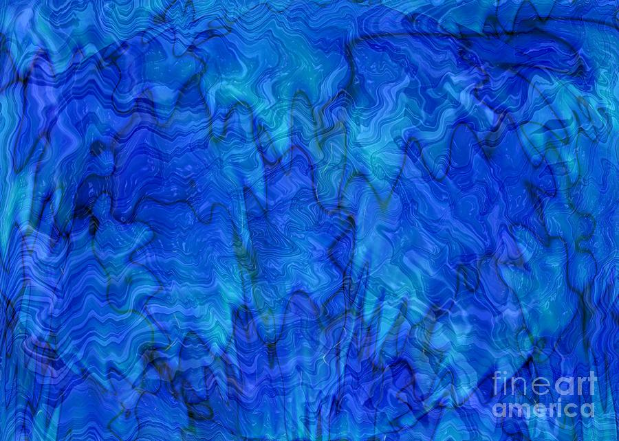 Blue Glass Abstract Art Photograph By Carol Groenen