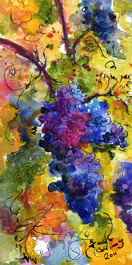 Blue Grapes Painting