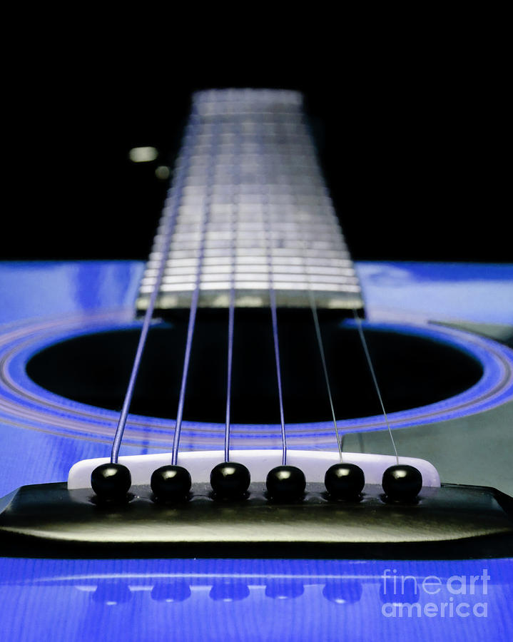 Blue Guitar 14 Photograph  - Blue Guitar 14 Fine Art Print