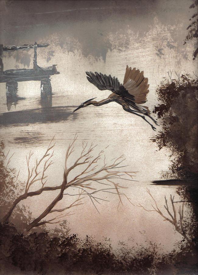 Blue Heron Painting