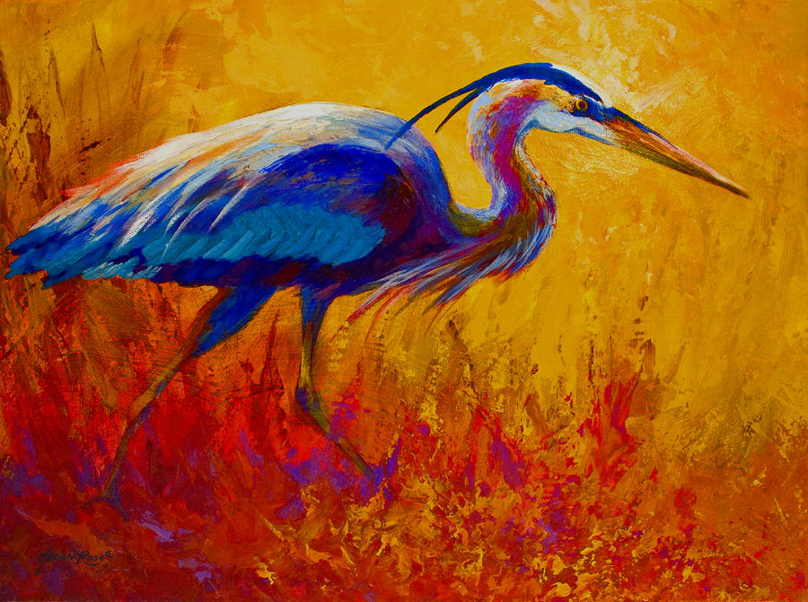 Blue Heron Painting  - Blue Heron Fine Art Print