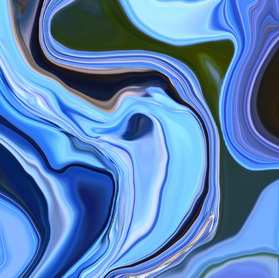 Blue Hydrangea Abstract  Photograph
