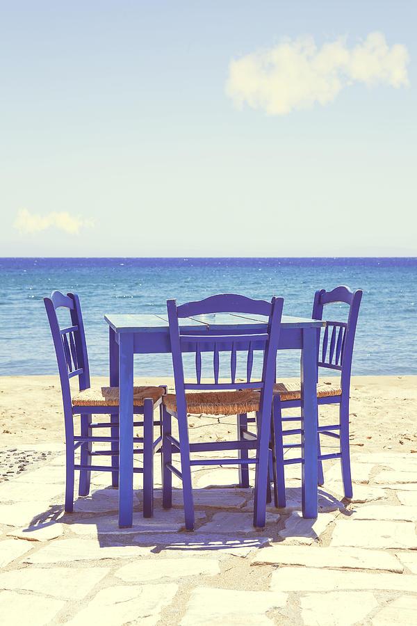 Chair Photograph - Blue by Joana Kruse