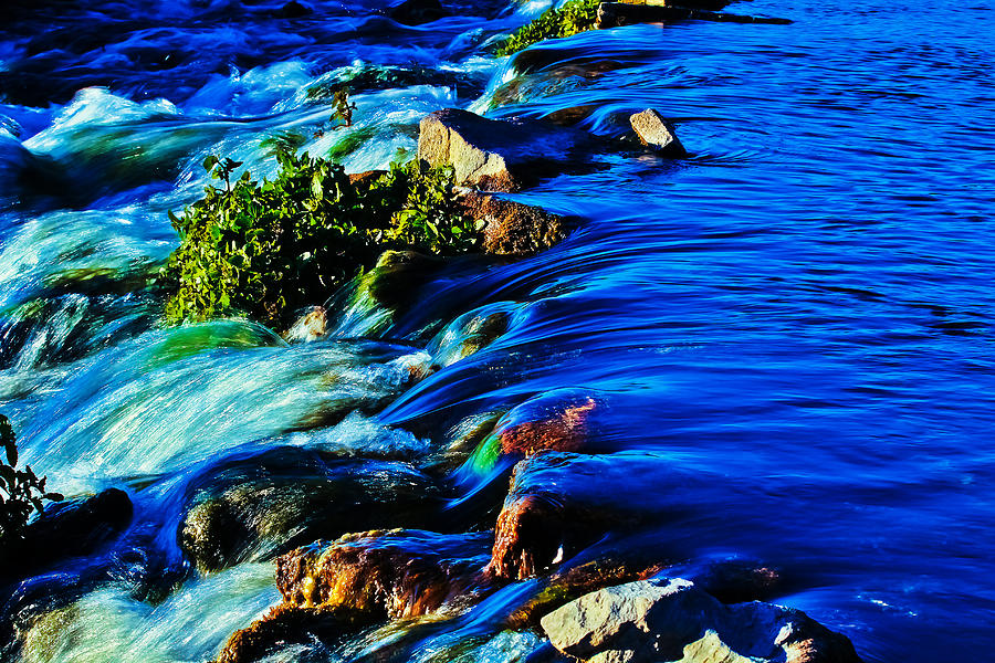 Rapids Photograph - Blue by Joshua Dwyer