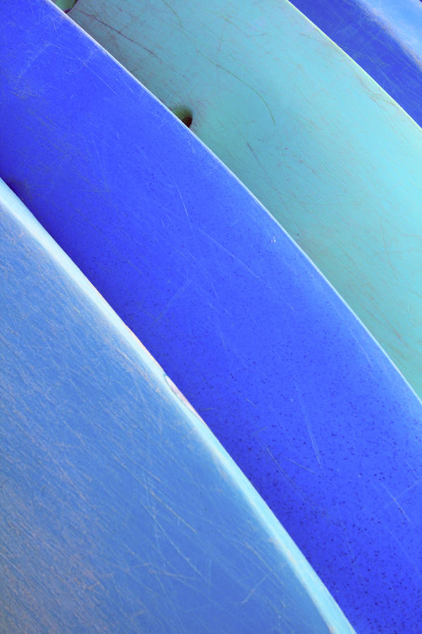 Blue Kayaks Photograph