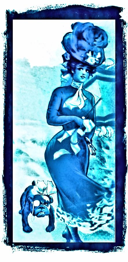 Blue Lady Digital Art  - Blue Lady Fine Art Print